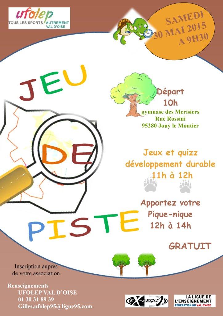 Bekannt Jeu de piste UFOLEP 95 - Ligue de l'enseignement du Val d'oise ZV31