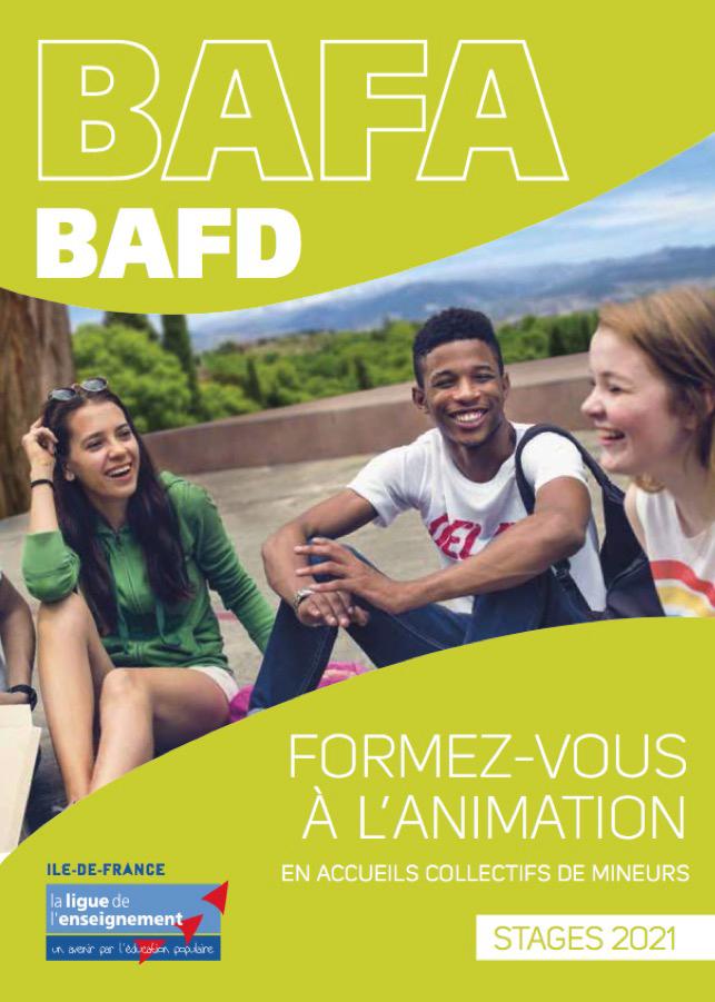 Calendrier approfondissements BAFA   Ligue de l'enseignement du