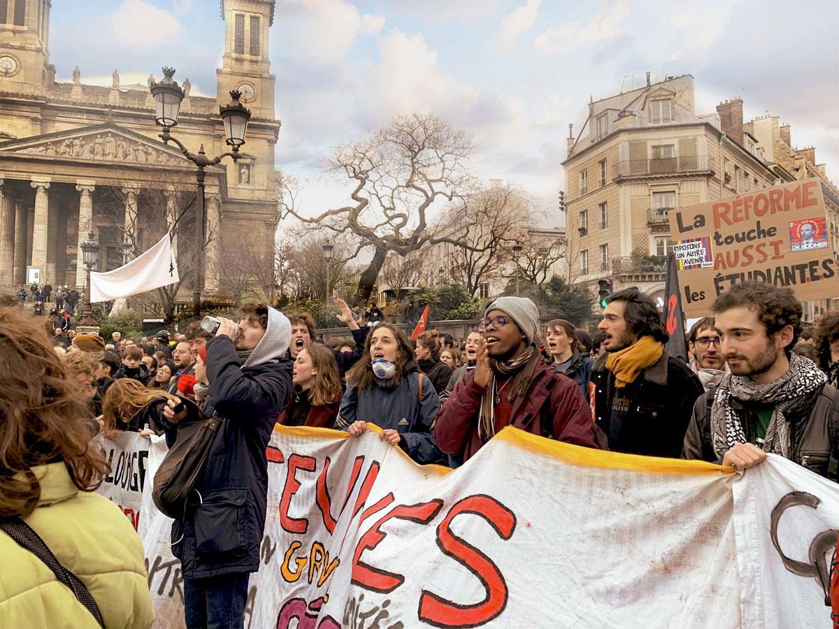 manifestation de jeunes